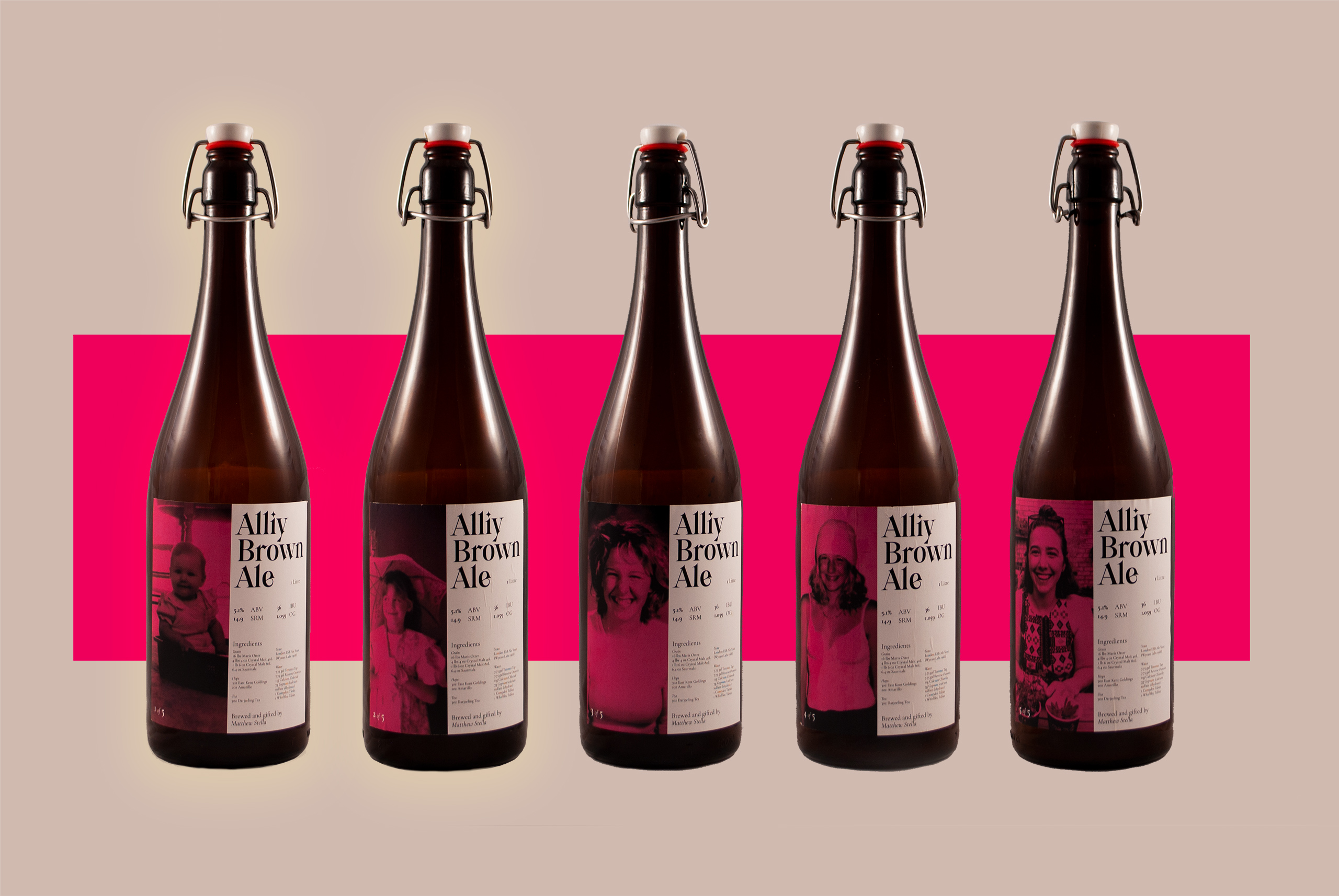 Alliy Brown Ale Packaging