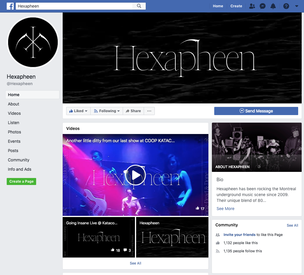 Hexaphen Facebook